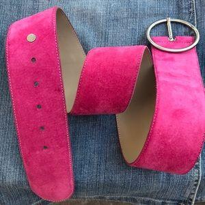 Izod pink suede belt size medium